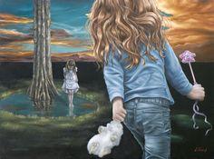 "David Lihard ""Tu vas disparaître"", huile sur toile, 97 x 130 cm, 2010"