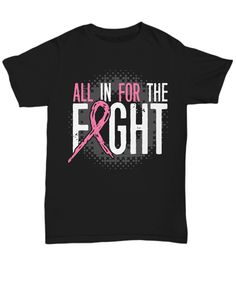 Show your love and support for family and friends who are battling breast cancer. Encourage them to never give up. T-Shirts are printed to order in the USA. Pink Out, Go Pink, Breast Cancer Support, Breast Cancer Awareness, Spirit Shirts, Cheer Shirts, Order Prints, Shirt Designs, Interesting Stuff