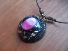 Orgone pendant pink mother of pearl