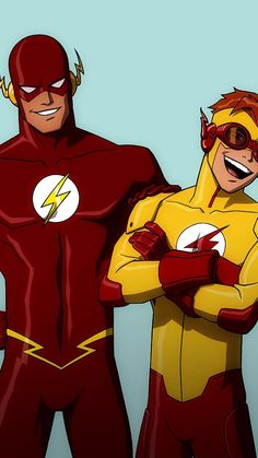 Flash (Barry Allen) and Kid Flash (Wally West)----is it bad that I have a major fictional character crush on Barry & Wally?!?!