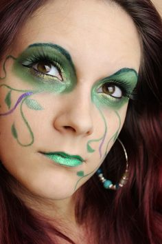 Green Fairy Make Up http://www.talasia.de/2013/02/15/green-fairy-make-up/