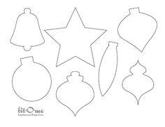 felt ornaments templates   own felt christmas tree ornaments the ornaments were embellished using ...
