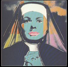 Andy Warhol - Portraits of Ingrid Bergman THE NUN #45