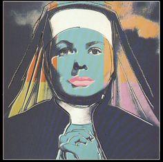 Andy Warhol - Portraits of Ingrid Bergman THE NUN #45