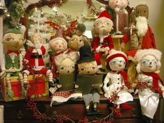 Joe Spencer's Christmas dolls are SOOOO popular!  Joe names them all and truly they have unique personalities all their own!
