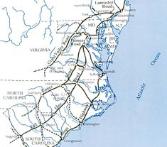 Routes the Scotch-Irish may have taken south from Pennsylvania