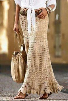 Outfit con falda tejida