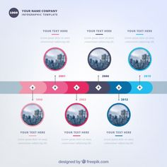 Company time line template with modern style Free Vector Design Plat, Neon Design, Art History Timeline, Event Poster Template, Powerpoint Design Templates, Timeline Design, Beer Infographic, Infographic Comparison, Fashion Infographic