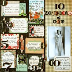 Fun way to use lots of journaling spots on a page | From Cosmo Cricket blog