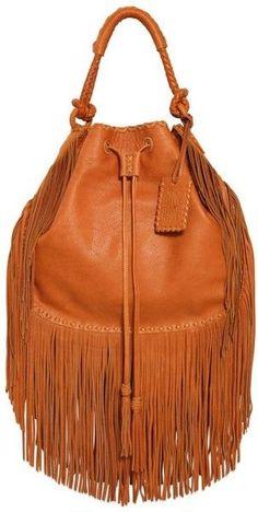 cbdeddc4ee Ralph Lauren Multi Fringes Grained Leather Hobo Bag Boho Bags