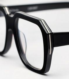 Ksubi Hosta Eyeglasses - Black and Silver Kingsman, Eyeglass Frames For Men, Fashion Eye Glasses, Optical Glasses, Mens Glasses, Glasses Frames, Reading Glasses, Black Silver, Eyeglasses