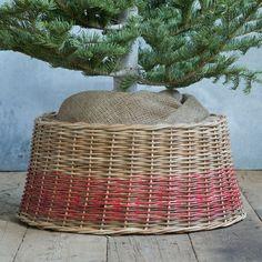 Christmas Tree Base Decor Ideas | Basil Green Pencil