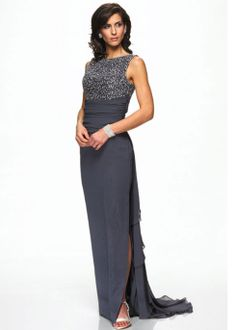 Free Shipping on  Alyce 29049 charcoal chiffon long mother of the bride dresses available now at RissyRoos.com