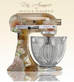 Un-Amore.com custom painted KitchenAid mixers. Floral Concept by Nicole Dinardo
