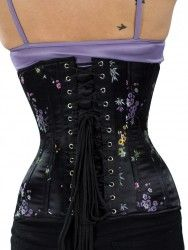3abec49790f Beautiful New CS-426 Authentic Longline Underbust Satin Corset in Midnight  Floral I love this