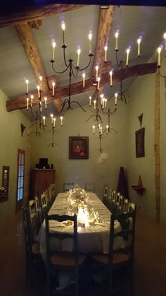 The reception room with the amazing chandelier