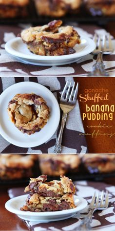 Chocolate-stuffed pudding cookies made in a muffin tin! Swoon!