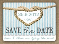 Knots and Anchors Nautical Seaside theme wedding Save the Date by In the Treehouse
