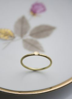 Engagement Rings – Dahlia one petal 18ct. yellow gold ring – a unique product by dkjewellery on DaWanda