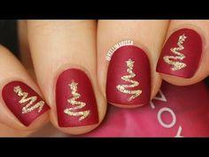 Easy Elegant TEXTURED Christmas Tree Nail Art DIY Tutorial || KELLI MARISSA - YouTube