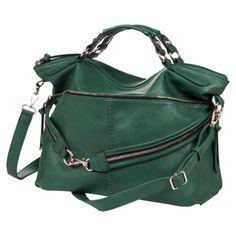 Melie Satchel Handbag with Removable Crossbody Strap - Green- Target 04.02.2014 -unavail. online -uuugggh