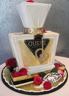 Guess Perfume Bottle Cake