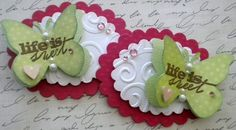 Set of 2 Butterfly Embellishments. Life is by KindrasCreations