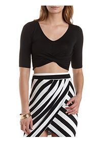 Ruched & Twisted Crop Top