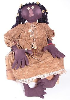 """Juju"" stained muslin doll by PrimRoss Designs"