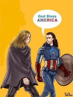 Loki looks so good in this cartoon