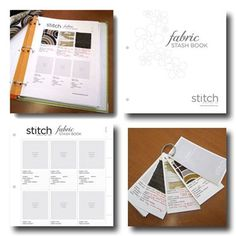 This is a cool Fabric Stash Book download. It has a page for using in a binder or for using on a binder ring like a key ring. Now I have to figure out which I want to use.