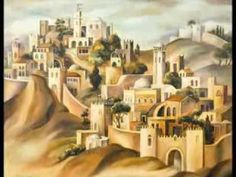 """Yerushalayim Shel Zahav """"Jerusalem of Gold"""" Naomi Schemer Yerushalayim Shel Zahav """"Jerusalem of Gold"""" Performed by SHIRIN Colorful Pictures, Art Pictures, Fall Of Jerusalem, Journey To Bethlehem, Jewish Art, Religious Art, World Cities, Naive Art, Holy Land"""