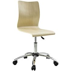 Modway Fashion Plywood Swivel Office Chair in Natural >>> Read more  at the image link.Note:It is affiliate link to Amazon.