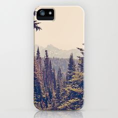 Mountains through the Trees iPhone Case by Kurt Rahn | Society6