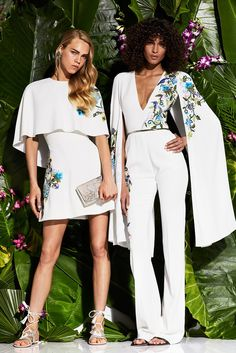 Zuhair Murad | Resort 2017 fashion collection | White embroidered | Cape and Capelet