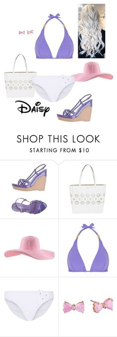 """""""Beach Style - Daisy Duck"""" by briony-jae ❤ liked on Polyvore featuring Sebastian Professional, Kate Spade, ELIZABETH HURLEY beach and Betsey Johnson"""