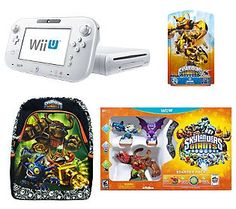 Nintendo Wii U White 8GB w/Skylanders Starter Pack & Backpack