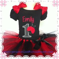 Personalized Tutus Amore Australia just love this sweet little… Baby Girl 1st Birthday, First Birthday Outfits, 5th Birthday, Birthday Ideas, Ladybug Costume, Ladybug Party, Ladybug 1st Birthdays, Black Ladybug, Tutu Outfits