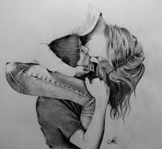 Sketches of people hugging/long kisses by annakoutsidou, traditional art drawings, people Cute Couple Drawings, Love Drawings, Drawing Faces, Drawing Sketches, Art Drawings, Drawings Of Couples Kissing, Drawing Tips, Pencil Drawings, Adorable Drawings