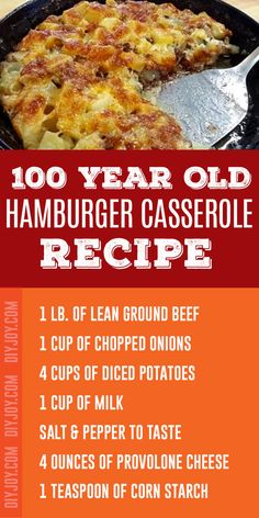 Hamburger Casserole Recipe - Easy Ground Beef Recipes - Inexpensive Meals to Make With Ground Burger Meat Casseroles Beef Recipes Hamburger, Beef Casserole Recipes, Ground Beef Recipes Easy, Beef Recipes For Dinner, Easy Hamburger Casserole, Macaroni Casserole, Bread Recipes, Holiday Recipes, Beef