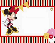 Funny Red Minnie Mouse Free Printable.