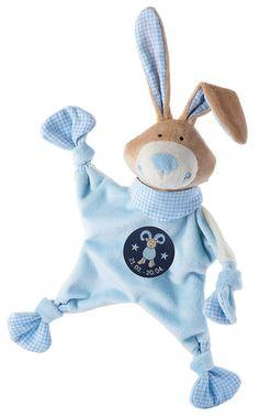 sigikid, Jungen, Schnuffeltuch, Hase mit Sternzeichen Widder, Blau, 48828: Amazon.de: Baby