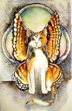 Calico Fairy Cat by Sarah Pauline - 2 of my favorite things combined...cats & fairies