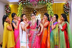 Telugu weddings are known for their colour, fun and grandeur! The typical Telugu wedding goes on for a few days and is packed with yards of fun and culture. Be it any wedding, the participation and. Funny Wedding Poses, Indian Wedding Poses, Indian Wedding Couple Photography, Wedding Picture Poses, Bridal Photography, Indian Bridal, Wedding Pics, Wedding Shoot, Trendy Wedding