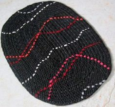 OOAK  Braided Area Oval Rug with red orange  gray by mrsginther, $125.00 ***Would look super cool in a kitchen or bathroom in front of the sink.