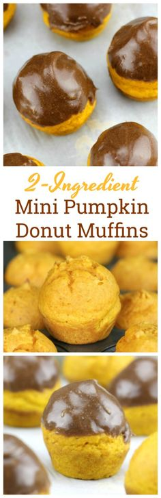 Easy 2 Ingredient Mini Pumpkin Donut Muffins