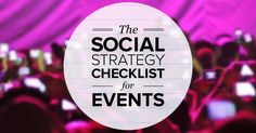 The definitive guide for planning social media before, during and after an event! Via Lynae Cook.