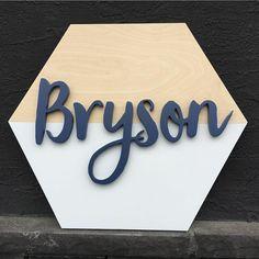 Nursery Wood Sign, Nursery Name, Nursery Signs, Nursery Decor, Nursery Ideas, Room Decor, Baby Diy Projects, Wood Projects, Name Wall Decor