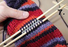 Hjerte GO`H Design: Hvordan strikke tommel på vott; en step by step forklaring H Design, Knitting Patterns, Knitting Ideas, Knitted Hats, Knit Crochet, Barn, Knits, Socks, Activities