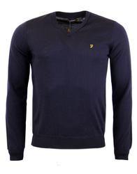 Devlin FARAH Retro Merino V Neck Sweater  (N)